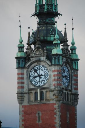 Gdansk Train Station Clocktower by redandgoldrose