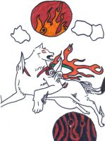 Amaterasu Fights Yami by Shakko1993