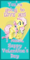 Crystal Fluttershy Valentine Card by Kurenai-Hio