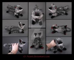 SOLD Plushie: Ceniza the Wolf by Avanii