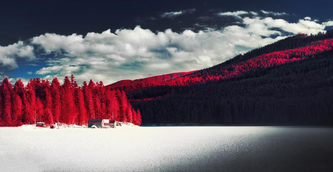 cabin by the lake by elopan