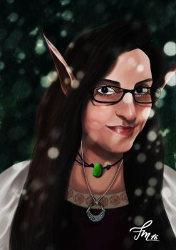 My elven Queen by AbstractDawn
