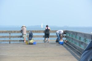 Fishing On the Pier 4 by Miss-Tbones