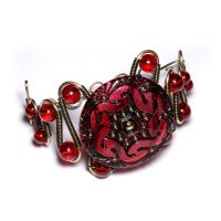 Red Spiral  Bracelet by CatherinetteRings