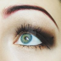 Golden Brown Eye Makeup by emmaghostprints