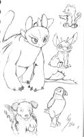 Toothless and friends by T-Nooler