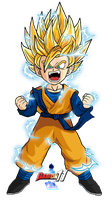 Kid Goten SSJ2 by Dairon11