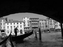 Venice (black and white) by JudytaDragon