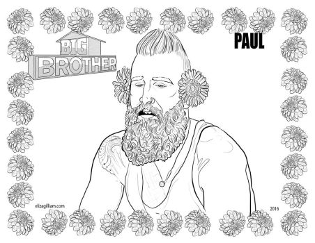 Big Brother 18 Coloring Page - Paul by omgwtflols