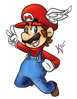 Super Winged Mario by Kirafrog