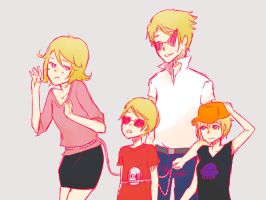 Strider-Lalonde Family by peachbunny27
