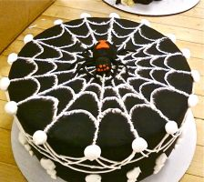 Fondant Spider and web by BrightlyWound455