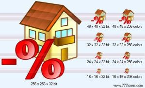 Mortgage loan interest payment by money-icons