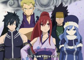 Team Fairy Tail (fake-shot) by Chsabina