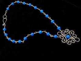 Blue Apatite Necklace by Lincey