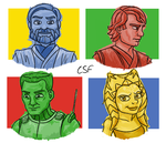 The Clone Wars Characters by CartoonSilverFox