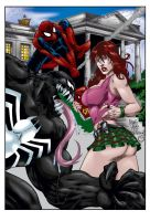 Venom and MJ by MarcBourcier