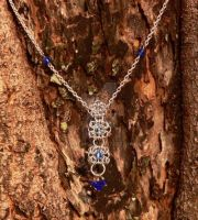 Bombay Sapphire - Necklace by Akai-Ink