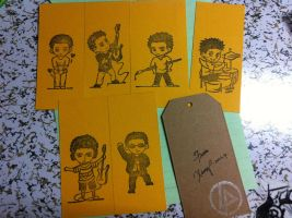 chibi linkin parkers book mark by LittleXevy