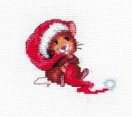 Happy little Christmas mouse by Thriin
