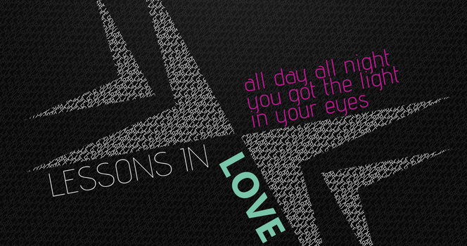Typography Lessons In Love by Th3R3dV1p3r
