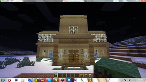 Minecraft My New Home ( Front ) by MikaMori
