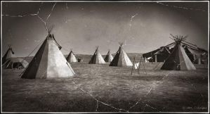 NA Plains Indian Village by jbjdesigns