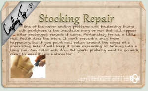 Cosplay Tip 37 - Stocking Repair by Bllacksheep