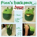 Finn's backpack Adventure Time cosplay by SilkenCat