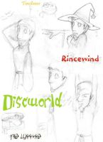 Discworld Sketches by the-Mad-Hatress