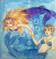 Hetalia : Pisces (Belarus and Ukraine) by spogunasya