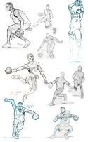 Basketball Sketches by FATRATKING