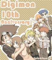 Digimon-anime 10th Anniversary by taichikun14
