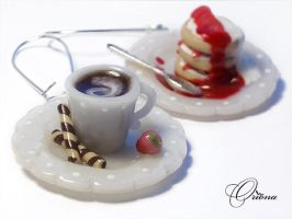 Earrings Sweet breakfast 2 by OrionaJewelry