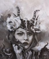 Roses and Horns by NicolePerez