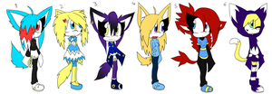 Sonic Adoptables 7 +CLOSED+ by Sky-Yoshi