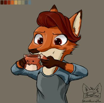 Okay here's Elliot by Steampoweredfoxes