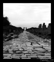 Down theStreet of Leptis Magna by GenFeanor