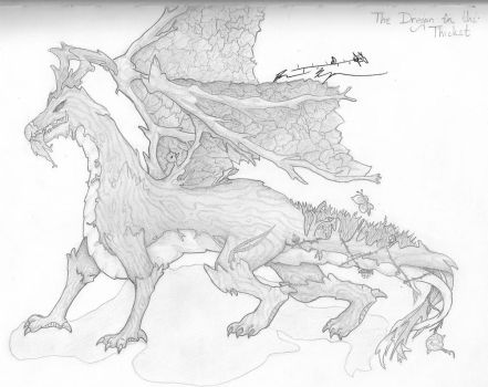 The Dragon in the Thicket by Belledaire