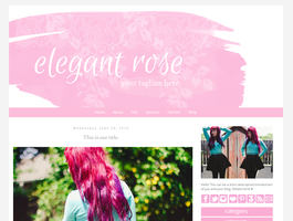 Elegant Rose Blogger Template by candypow
