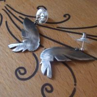 Argentium Wing Earrings by enchantara
