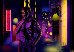 The Wolf Among Us-Bigby by JonGon