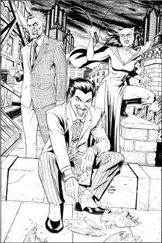 Joker, Catwoman, and Two-Face by craigcermak