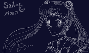 Sketchfu - Sailor Moon by Mietschie