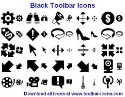 Black Toolbar Icons by Ikont