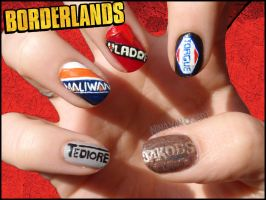 Borderlands Nails by JawsOfKita-LoveHim