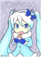 Snow Miku ACEO 01 by JusticeDude