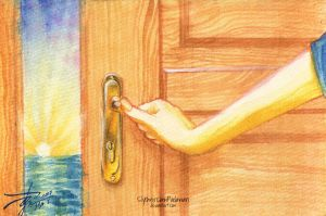 March Watercolor 01: Open sesame! by SlytherclawPadawan