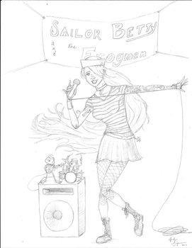 Sailor Betty and the Frogmen by w3verde