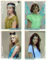 TigerLily, Tinkerbell, Alice and Wendy. by HannahLunaBarker